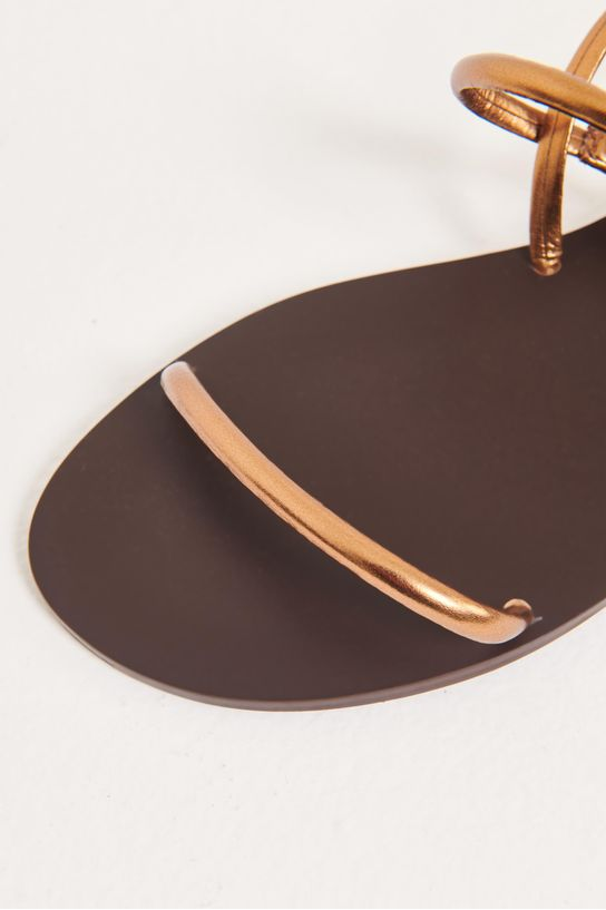 Rasteira metalizada cobre