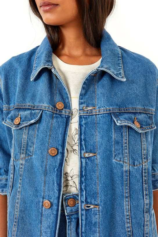 jaqueta jeans eco basic frente