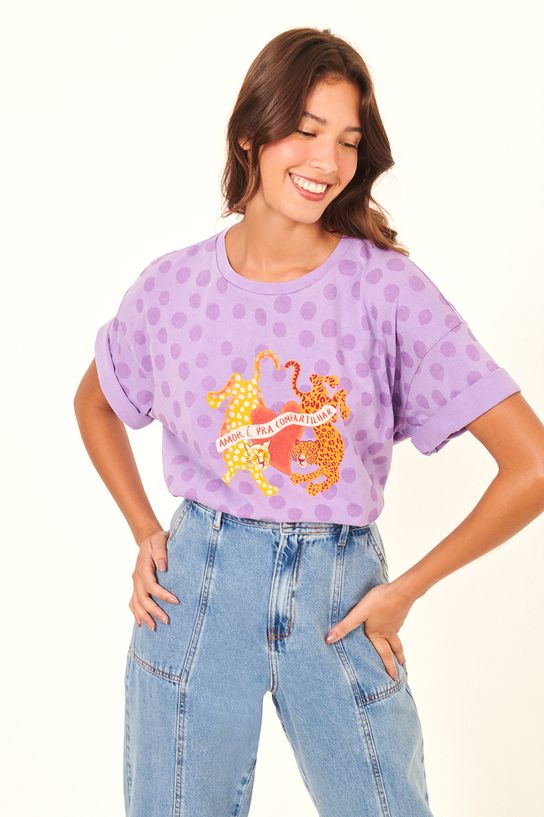 T-shirt Silk Amor Para Compartilhar