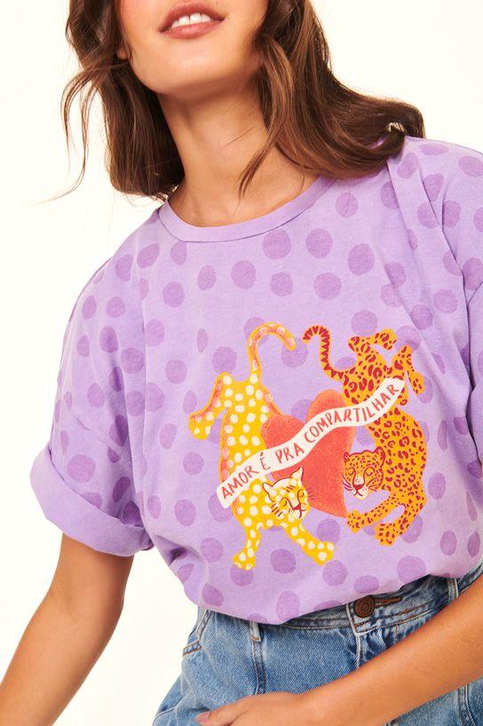 Camiseta Silk Amor Para Compartilhar
