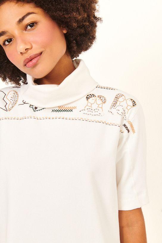 vestido moletom off white bordado