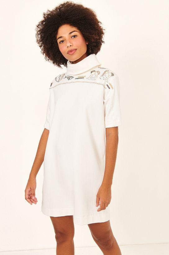 vestido moletom bordado